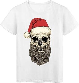 Camiseta Divertida de Santa de Manga Corta de Dibujos Animados Camisa de Cuello Redondo de Moda para Hombre Tallas Grande ...