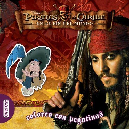 Libro para pintar con adhesivos de Piratas del Caribe.
