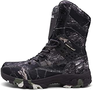 Outdoor Sport Camouflage Oxford Scarpe Da Trekking Anfibio Jungle High Tactical Boots (Colore: Grigio mimetico, Taglia : 46)