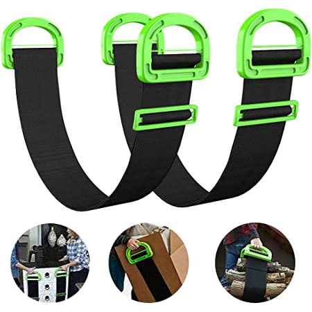 Durable Comfortable and Delicate Texture Clumsy Boxes and Luggage 3.2 in Wide etc. Moving Strap transportable with Ultra-Thick Adjustable Carrying Belt H/&W Carrying Strap
