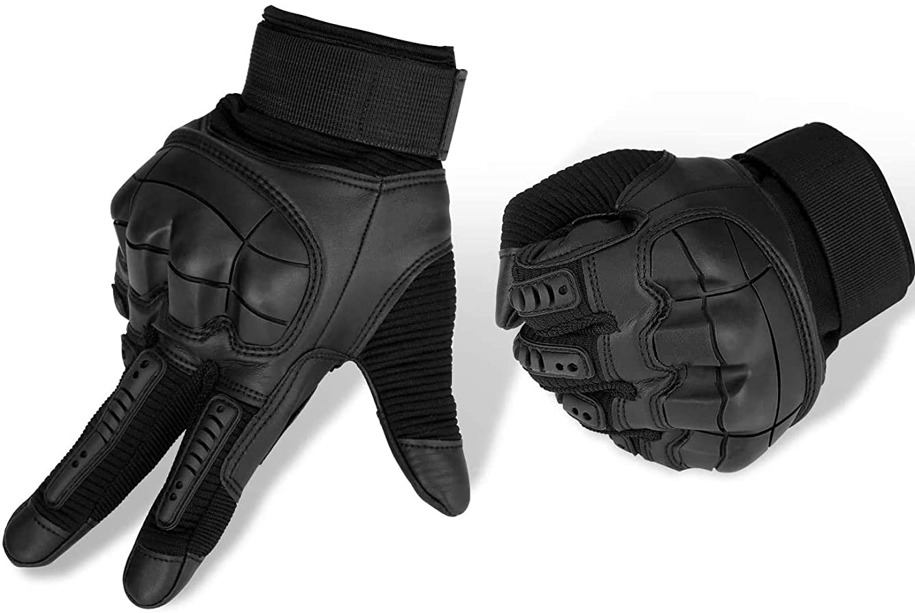 ネーピア侵入する分布手袋スポーツ乗馬男性と女性男性用オートバイグローブ通気性タッチスクリーンハードナックルマウンテンバイク乗馬サイクリングハンティングアウトドアスポーツギアグローブ (Color : Black, Size : XL)