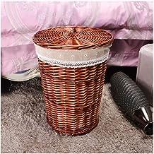 XinQing-Storage basket Wicker rattan hamper hot pot shop clothes basket hotel room towel bath towel weaving storage basket...