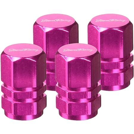 You S Alu Smiley Ventilkappen Pink Rosa Mit Dichtung Ventil Kappen Abdeckung Für Auto Pkw Lkw Motorrad Fahrrad 2 Stück Auto