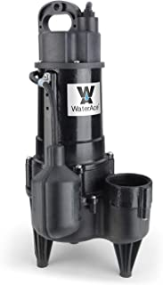 WaterAce WA50RSWW Sewage Pump, Black
