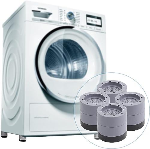 Moocuca 4 Pièces Anti Vibration Tampon, Pieds Stabilisateur Piédestal pour Machine à Laver, Patins anti-vibrations po...