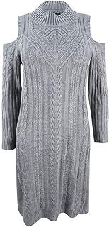 فستان حريمي محبوك على شكل كابل على الكتف البارد من Jessica Howard