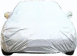 フォルクスワーゲンの車のカバー現代と互換性のある車のカバー防雨日焼け止めフォーシーズンズユニバーサル厚いコットンベルベット (Color : Silver, Size : New BORA)