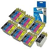 Fimpex Compatible Encre Cartouche Remplacement Pour Epson XP-102 XP-202 XP-205 XP-212 XP-215 XP-225 XP-30 XP-302 XP-305 XP-312 XP-315 XP-322 XP-325 XP-402 XP-405 XP-405WH XP412 18XL (B/C/M/Y, 26-Pack)