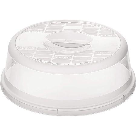 Rotho Basic Couverture micro-ondes, Plastique (PP) sans BPA, transparent, (26.5 x 26.5 x 6.5 cm)