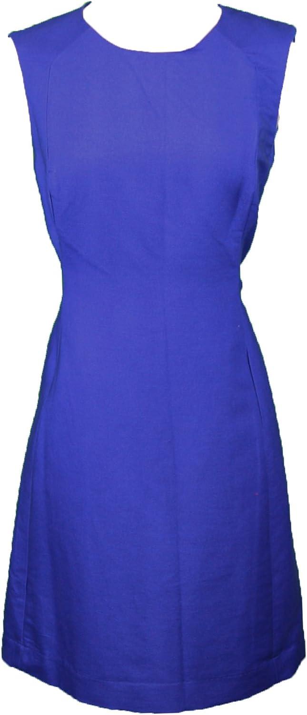 ELIZABETH MCKAY bluee Sleeveless Crewneck Julia Shift Dress 5078