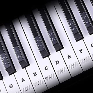 Piano Keyboard Stickers for 88/61/54/49/37 Key, Transparent