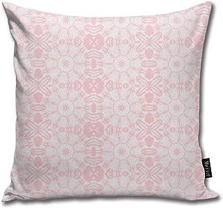Jia3261 Canadian Maple Leaf Mandala in Bubblegum Cushion Cover Square Throw Pillow Case for Sofa Bedroom Car 18