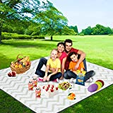 FIDENACK Picnic Blankets Extra Large-71' x 71' Machine Washable Waterproof Blanket,Portable Foldable Oversized Sand Free Beach Mat for Outdoor Picnics Accessories (Green)