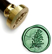 UNIQOOO Rosemary Botanical Twig Green Plants Wax Seal Stamp for Wedding, Great for Cards Envelopes, Invitations, Wine Packages, Snail Mails, Letter Sealing, Gift Ideas for Bride, Friends, Lover
