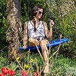 Relaxdays Balançoire nid d'oiseau rond Bleu foncé 90 x 90 x 153 cm 10020820_651 #2
