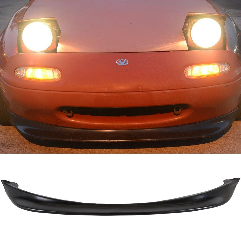 Front Bumper Lip Compatible With 1990-1997 MAZDA MIATA COUPE & CONVERTIBLES, 1x GV Type 2 bumper lip PU Front Lip Spoiler Splitter Valance Chin Diffuser by IKON MOTORSPORTS, 1991 1992 1993 1994 1995