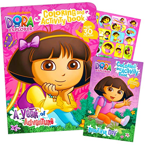 Aeropost.com Grand Cayman - Dora The Explorer Giant Coloring Book With  Stickers (144 Pages) By Bendon Publishing