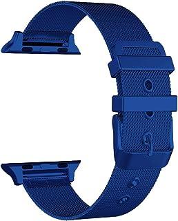 CGGA Correa de acero inoxidable para Apple Watch de 38 mm, 42 mm, para iWatch SE 6/5/4/3/2/1 de 40 mm, 44 mm, color de la ...