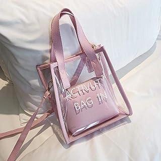 Amazon.es: bolsos transparentes mujer - Rosa / Bolsos de ...