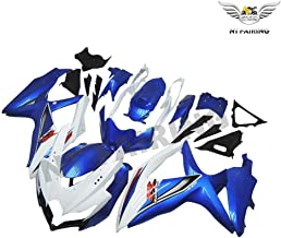 NT FAIRING Blue White Injection Mold Fairing kits Fit for Suzuki 2008 2009 2010 GSXR 600 750 K8 08 09 10 GSX-R600 Aftermarket Painted ABS Plastic Motorcycle Bodywork