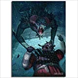 Conjunto de patrón de módulo The Witcher Card Game King Power Lost Warrior Duel Bear Horror Demon 1000 piezas rompecabezas de madera