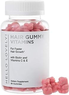 Angel Bear Hair Vitamins Gummies with Biotin 5000 mcg Vitamin C & E Support Hair Growth, Premium Pectin-Based, Non-GMO, fo...