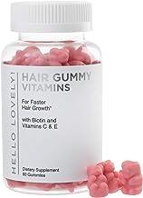 Angel Bear Hair Vitamins Gummies with Biotin 5000 mcg Vitamin E & C Support Hair Growth, Premium Vegetarian, Non-GMO, for Stronger, Beautiful Hair & Nails, Red Berry Supplement - 60 Gummies