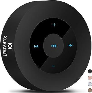 XLEADER SoundAngel (2.ªGen) Altavoz Bluetooth con Sonido HD 5W, diseño Táctil 15h música, Mini Altavoces Bluetooth Portátil Premium para Teléfono Tableta, Negro [Estuche Impermeable Oficial Incluido]