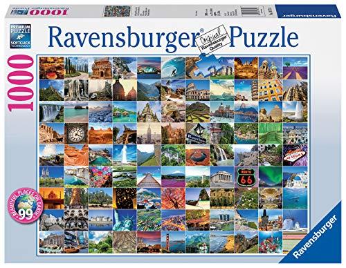 Ravensburger - Los 99 Lugares más Bellos del Mundo, Puzzle de 1000 Piezas (19371 4)