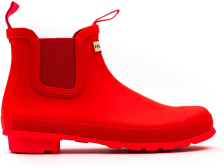 Hunter Neon Plum Mens Chelsea Boots