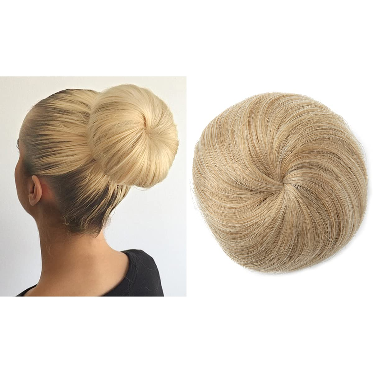 Large special price !! Blonde Ballet Bun Clip in Updo Hair Synthetic Donu New Orleans Mall Extension