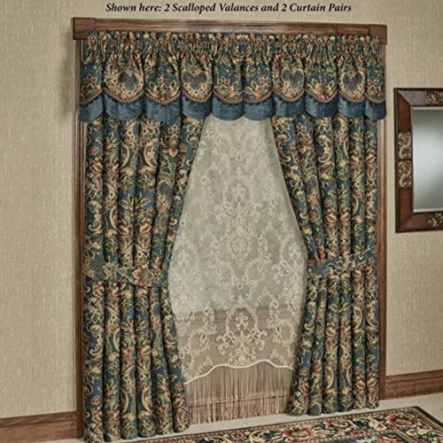 Touch of Class Casanova Wide Tailored Curtain Pair Dark Teal