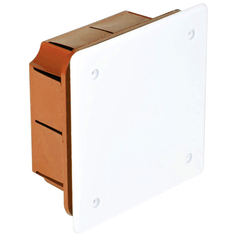 Electraline 60407 - Caja de derivación (para empotrar en obra, 90 x 90 mm): Amazon.es: Bricolaje y herramientas