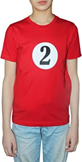 Rimi Hanger Childs 1And 2 Print Red Short Sleeve Fancy T-Shirt Boys Party Wear Top 3-10 Years