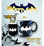 Silver Buffalo Batman BK6534H DC Comics Bats Heat Reveal Ceramic Mug, 20-Ounce, 20 oz