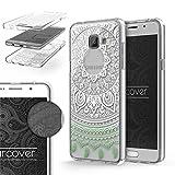 Urcover Funda Galaxy A5 (2016) Edición 360 Grados Mandala Flexible Samsung Galaxy A5 (2016) Protección Completa Delgada Antichoque Antigolpes Anticaidas Transparente en Negro