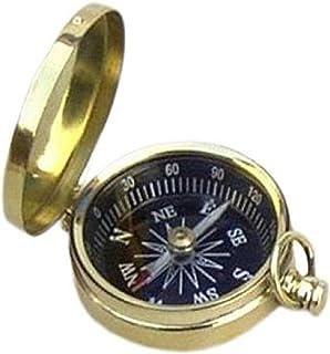 Benzara Elegant Brass Pocket Compass with Black Dial