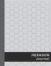 "Hexagon Journal: Large 0.5"" Hexes Hexagonal Graph Paper - Gray (Honeycomb Paper Notebook Large)"