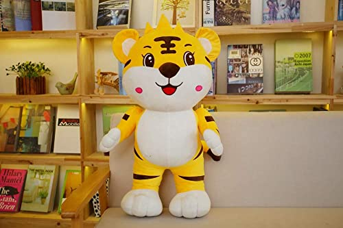 Mjia Pillow Plüsch Kuscheltiere Plüschspielzeug für Jungen   mädchen   Freund Geburtstag, niedlichen Tiger Plüsch Kissen, Kinderspielzeug, 90cm