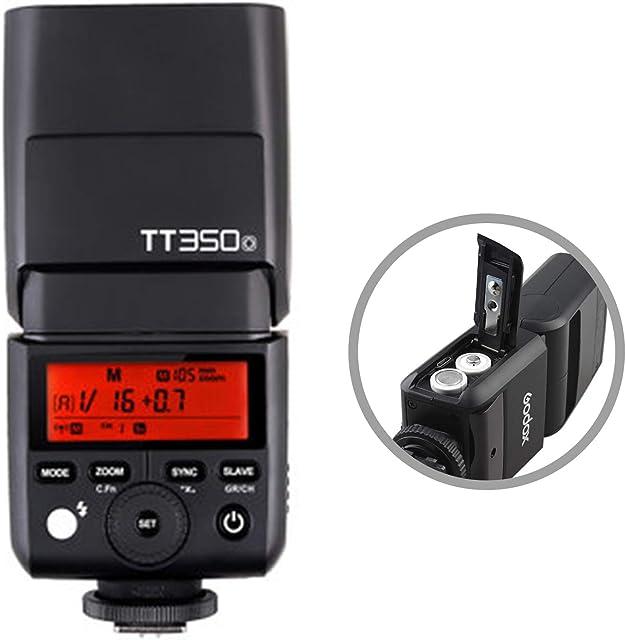 Godox TT350O TTL Flash automático GN36 Flash electrónico 2.4G HSS 1/8000s para Cámaras Digitales sin Espejo Olympus E-M1 E-PL8 /Panasonic DMC-GX85 DMC-G7