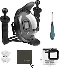 SHOOT Official 5.0 Stabilizer Tray Dive Dome Port for GoPro HERO7 Black/6/5 Black/Hero(2018) with Two Aluminum Alloy 1'' Ball Handle for Underwater Photography Snorkeling Scuba Accessories