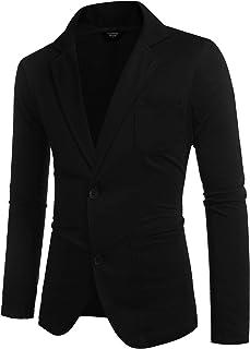 COOFANDY Mens Cotton Casual Two Button Lapel Blazer Jacket Lightweight Sport Coat
