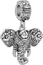 LilyJewelry Dijes de elefante de la suerte, cuenta para brazalete con diseño de animal de la buena suerte