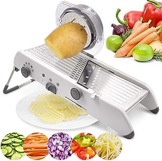 18 Types Adjustable Mandoline Slicer Stainless Steel Manual Cutter Vegetable Grater Julienne Slicer Fruit Waffle Kitchen P...