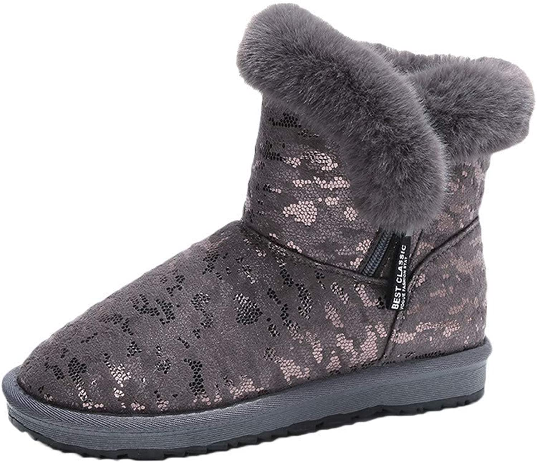 KAOKAOO Home Slipper, Women's Girls Outdoor Wave Warm Snow Boots