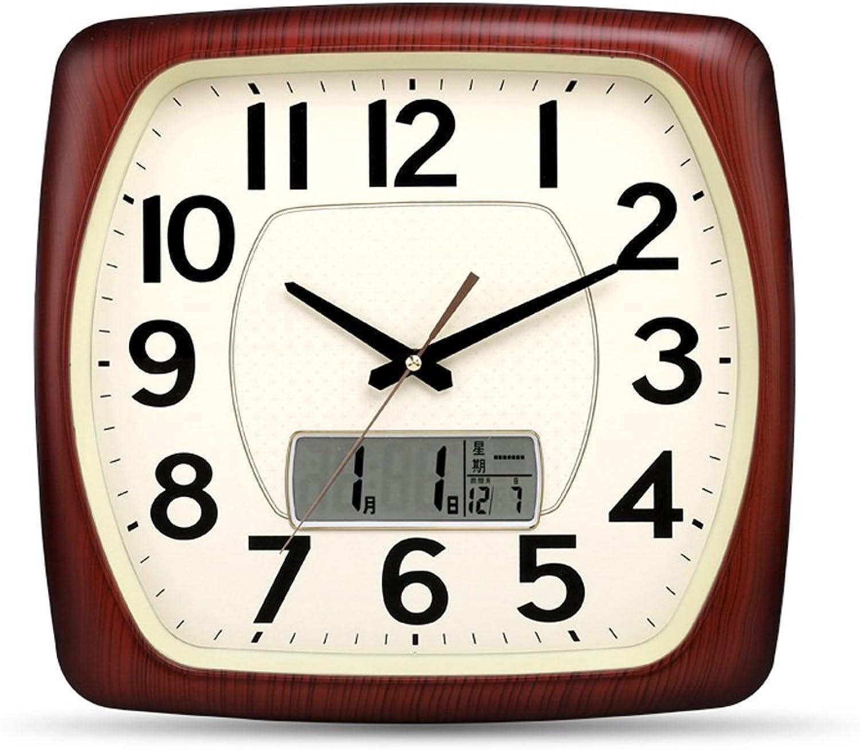 Envio gratis en todas las ordenes DUHUI Relojes de Parojo Reloj De De De Parojo Silencioso, Pantalla LED, 16 Pulgadas, Plástico, Cuarzo, con Batería (Color   Color Madera)  la mejor selección de