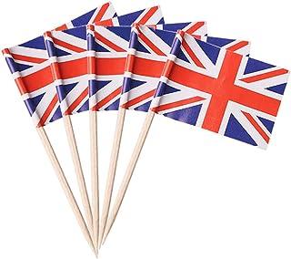 Halsey99 Juego Cerebro 100pcs la Bandera de Union Selecciones Union Jack británica Primeros de la Magdalena
