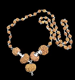 Rudraksha Combination for Navagraha Shanti 3,5,10,11,12 Mukhi Nepal in Silver Mala IGL Lab Certified Original Genuine Bead...