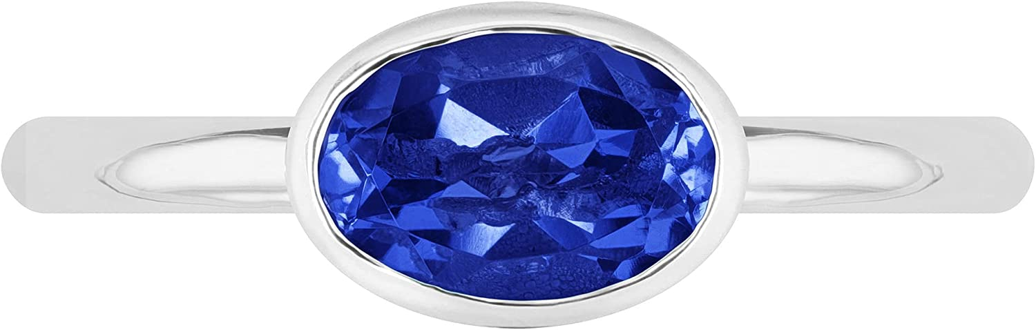 LeoDaniels 7 Industry No. 1 x 5 mm Oval Wholesale Sapphire Polish Stackable Blue Rin High