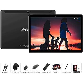 MEBERRY Tablet 10 Pulgadas Android 9 Pie Ultrar-Rápido Tablets 4GB RAM + 64GB ROM - Certificación Google gsm - Dual SIM - 8000mAh |WI-FI|Bluetooth|GPS| Type-C Tablet (5.0+8.0 MP Cámara) - Negro
